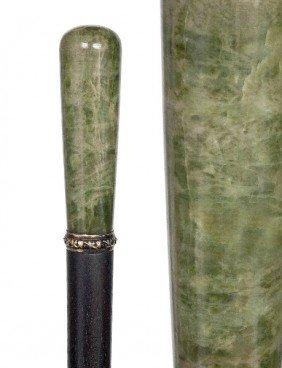 Jade Dress Cane-Circa 1910-Jade Handle Of Pale Gree