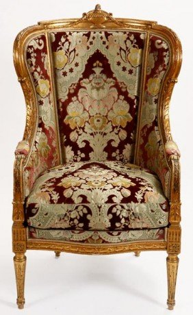7. Italian Brocade Chair-Early 20th Century-A Fine P