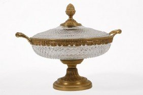 13. Baccarat Center Bowl-Late 19th Century-A Covere