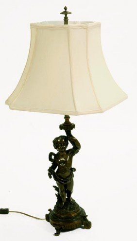 19. French Bronze Lamps-Circa 1880-A Pair Of Early