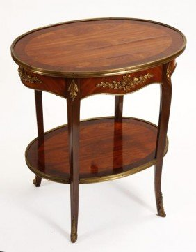 31. French Oval Table-Circa 1940-A Bronze Mounted O