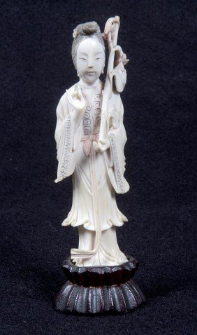 "16. Carved Ivory, Circa 1930, 5"" X 1"" X �"", $100-$3"