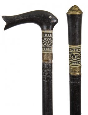 161. Pair Of Sword Canes- Ca. 1950- A Pair Of Indian