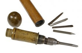 203. Screwdriver System Cane- Late 19th Century- A