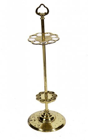212. Brass Cane Stand- 20th Century- A Solid Cast Cane