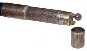 45. Art Deco Cigarette Lighter Cane- Ca. 1920- A Signed