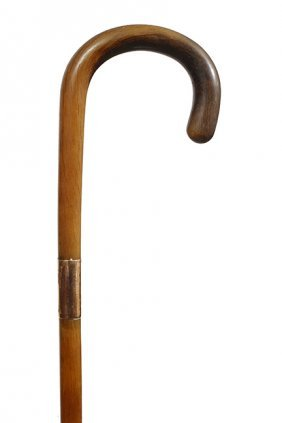 57. Horn And Gold Dress Cane- Ca. 1890- It Is Our
