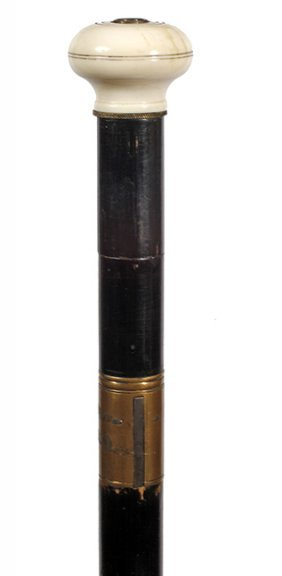 66. Dumonthier Gun Cane- Ca. 1890- A Rare Example And