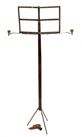72. Rare Music Stand Dog Cane- Mid 19th Century- One Of