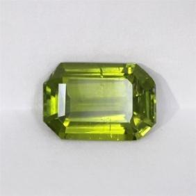 11.82ct Peridot Emerald Cut