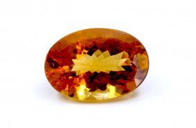 26 Ct & Up Citrine Oval Shaped Loose Stone