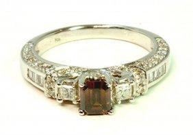 Chocolate Diamond 0.24ct Center / White Diamond