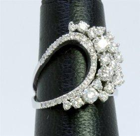 14k White Gold Ring 5.10gram Diamond 1.50ct