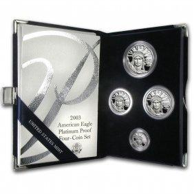 2003-w 4-coin Proof Platinum American Eagle Set (w/box