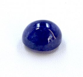 17 Ct & Up Cabuchon Tanzanite Oval Shaped Loose Stone