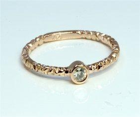 Diamond 0.14 Ct Ring 14kt Rose Gold 1.80 Gr
