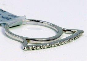 14k White Gold Ring 2.10gram Diamond 0.17ct