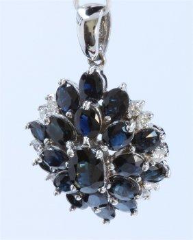 14k White Gold Sapphire