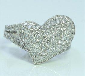 14k White Gold Ring 6.77 Gram Diamond Rd 1.93ct