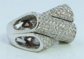 14k White Gold Ring 13.00 Gram Diamond 2.02ct