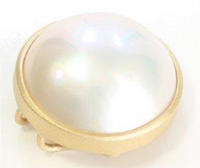 14k Yellow Gold Pearl Pendant:2.16g/pearl