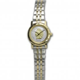 Ladies Us Indian Head Penny Watch - Stainless Steel