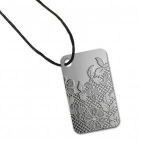 Valenciennes Lace - 10 Gram Silver Pamp Ingot Pendant