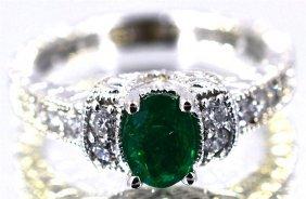 Emerald 1.27 Ctw Diamond Ring 14kw