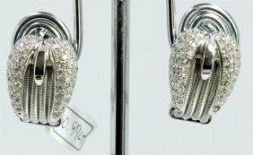 14k White Gold Earring 8.95gram Diamond 0.97ct