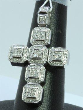 14k White Gold Pendant 15.80gram Diamond 1.00ct