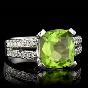 One Center Cushion Shape Natural Burma Peridot