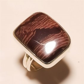 Villow Creek Jasper Ring Solid Sterling Silver