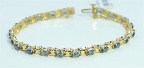 14k Yellow Gold Sapphire Bracelet/12 Grams/sapphire