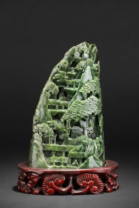 A Carved Jasper Shanzi Boulder