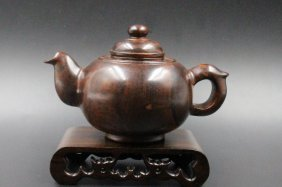 Chinese Huanghuali Teapot