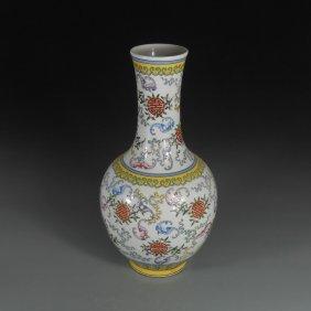 Chinese Famille Jaune Rotating Vase