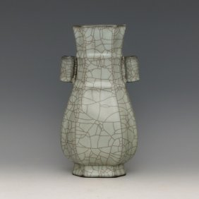 Chinese Guan Kiln Vase With Ears