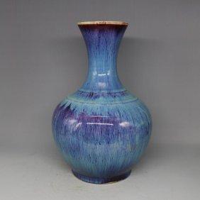 Antique Flamb Porcelain Vase