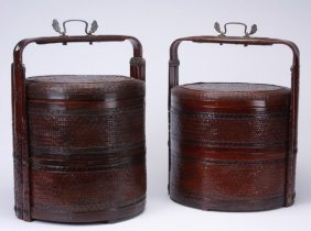(2) Chinese Stacking Boxes