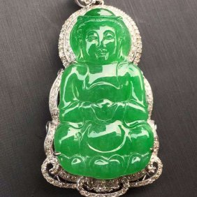 Natural Jade Goddess Of Mercy