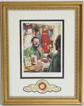 "Emmett Kelly ""send In The Clowns"" Litho Signed"