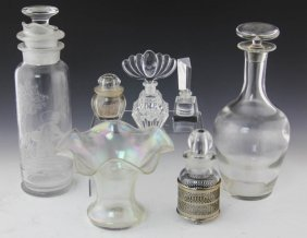 (7) Mixed Glassware Pieces