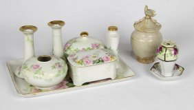 Hand Painted Limoges Porcelain Dresser Set
