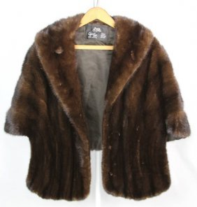 Gertz Ladies Brown Mink Fur Stole
