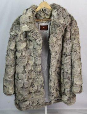 Sergio Valente Ladies Rabbit Piece Fur Coat