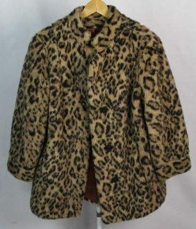 Russel Taylor Ladies Leopard Print Faux Fur Coat