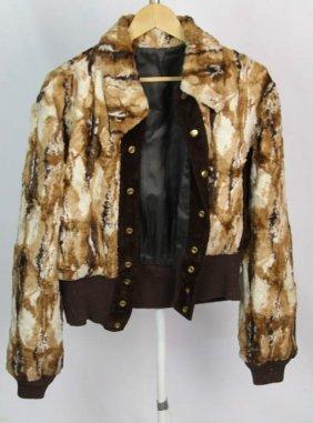 Unisex Multicolor Faux Fur Jacket