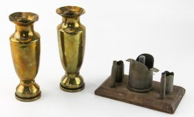 (3) Pieces Of Trench Art