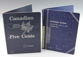 (2) Albums Of Canadian Nickels 1922-1960