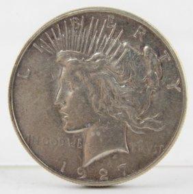 1927 Us Silver Peace Dollar